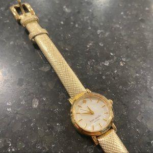 Kate Spade Metallic Gold Watch Leather Band